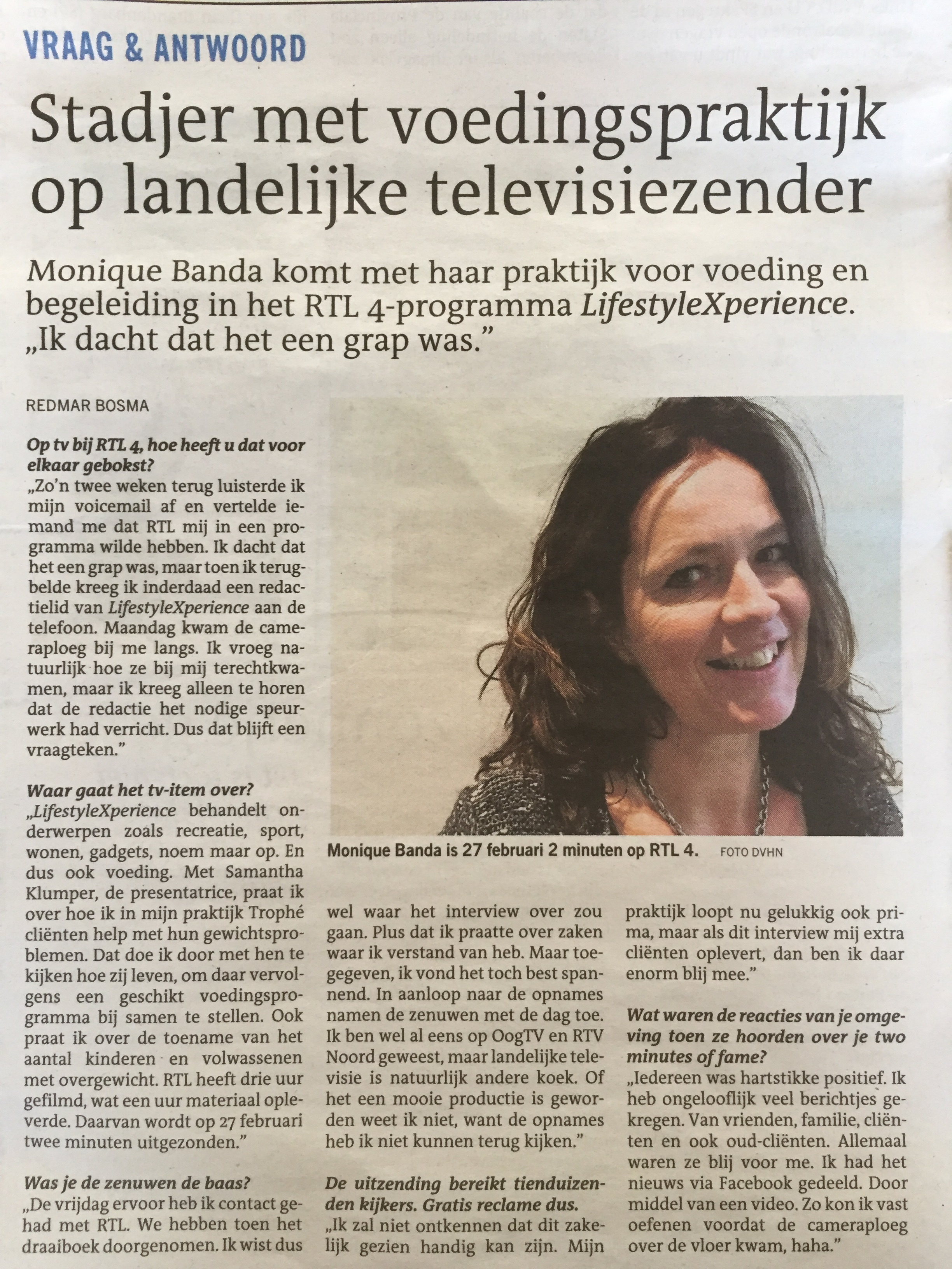 Interview DvhN, febr. 2017